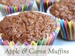 apple and carrot muffins