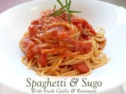 spaghetti and Sugo